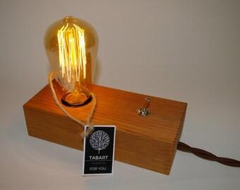Edison wood lamp