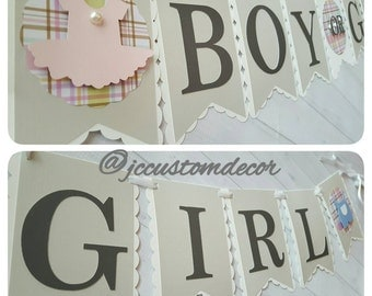 Gender Reveal Banner-Boy or Girl Banner-Gender Reveal-Boy or Girl