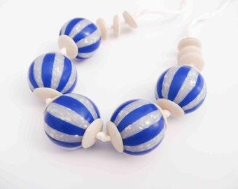 Hollow beads - marine