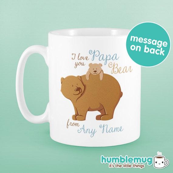 Papa ours mug cadeau f te des p res tasse de f te des p res - Tasse fete des peres ...