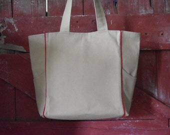 Canvas Tote - Canvas Shoulder Purse - Everyday Bag - Travel Bag