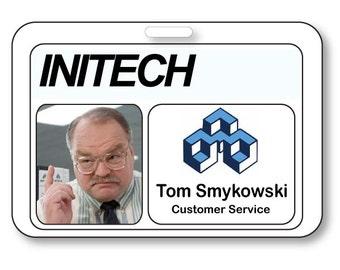 TOM SMYKOWSKI, Customer Service of The Office T V Show Strap Clip  Fastener Name Badge Halloween Costume Prop