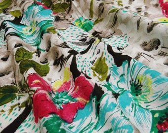 "Cotton Floral Printed Fabrics With Multicolor 42"" Wide Sewing Fabric Crafting Material Dress Making Floral Cotton Fabric By 1 Yard ZBC5239"