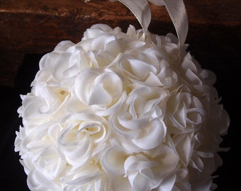 White Rose Pomander Ball, Wedding Decorations