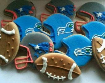 Football cookies (12 cookies, any team)