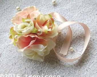 Floral Wristband - Light Orange