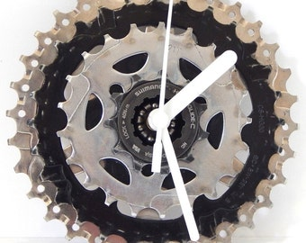 Bicycle Bike Cassette Sprocket Wall Clock Cycling Gift By ReCycle And BiCycle