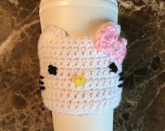 Hello Kitty Cup Cozy (pink bow)