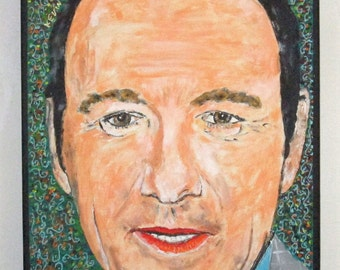 Digital Painting Kevin Spacey   portrait Acrylic on Canvas Drawing  Paint Painting Art