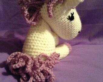 Shy Violet Crocheted Pony