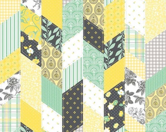 Sew Charming Designer Cloth Mint by Riley Blake Designs - Quilt Look Yellow Green - Quilting Cotton Fabric - by the yard, half yard