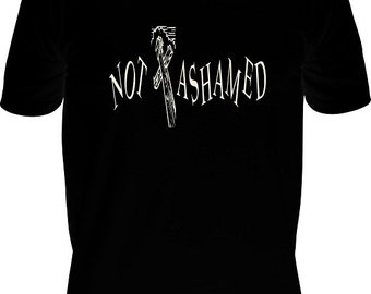 "T-shirt ""Not Ashamed"", Christian T-shirt, Cross T-shirt,"