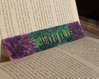 "Original Mini Art Work Bookmark ""secret garden"""