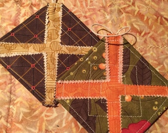 Quilted Christmas Ornaments per Pair