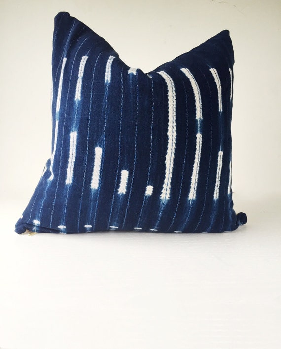 Authentic Vintage African Indigo Mudcloth By Thimbleandcloth