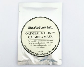 Oatmeal & Honey Calming Mask Sensitive Skin Face Mask - Sensitive Face Mask Oatmeal face mask dry skin facial mask