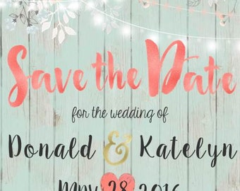 Rustic Wedding-Themed Save the Date
