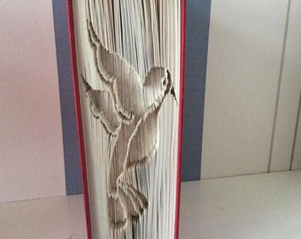 Hummingbird Cut and Fold Book Pattern