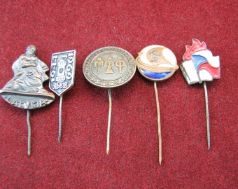 USSR heavy  pins 5 pieces