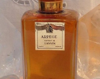 Jeanne Lanvin, Arpège, 80 ml. or 2.70 oz. Flacon, Pure Parfum Extrait, 1927, Paris, France ..