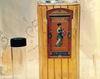 L. T. Piver, Pompeia, 30 ml. or 1 oz. Decant, Eau de Cologne, 1907, Paris, France ..