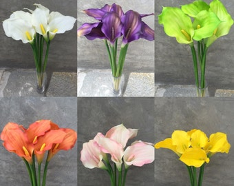 """Calla Lily Flowers, Faux flowers, Artificial flowers , Wedding Flowers, Home decoration  - 18"""" Tall"""