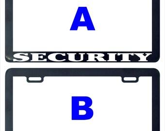 Security license plate frame holder tag