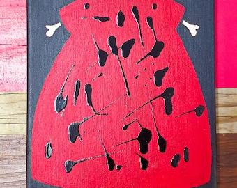 "Acrylic on Canvas - ""Inked Lady Series"" by myseashellez"