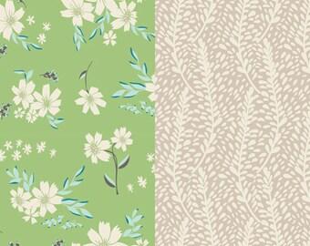 Crib Sheet // Ivory & Fresh Melon Floral w/ contrast Creme paneling // Nursery // Toddler's Room //Gender Neutral // Statement Bedding