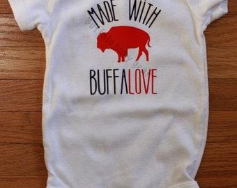 Made with Buffalove Buffalo baby onesie/bodysuit