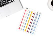 047 Household chores icon decoration stickers for Erin Condren, Happy Planner, Filofax, Kikki K, Scrapbooking