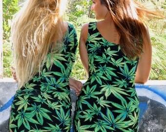 Women dress cannabis-Weed