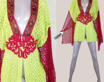 bohemian tunic top with embroidery---m/l