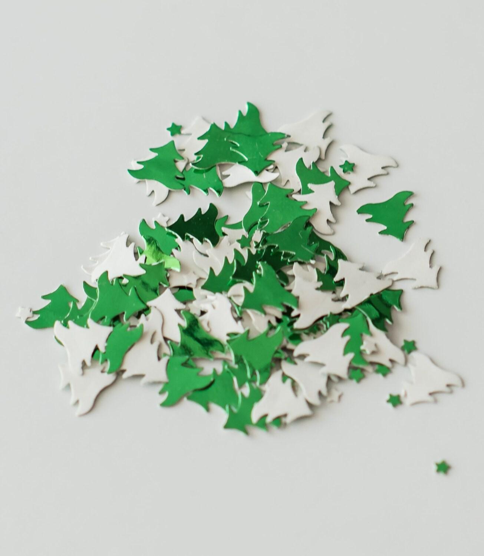200 Green Christmas Tree Confetti Christmas Wedding Table