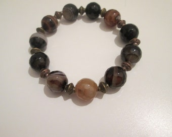 Agate bracelet maron