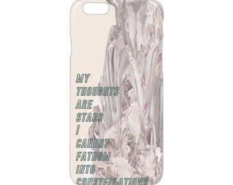 My thougts are stars i cannot fanthom into constellations iPhone case