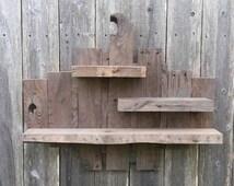 Wood Shelf - Shelves - Raw Wood Shelf - Rustic Gifts - Display Shelf - Gifts For Him - Rustic Decor - Gift For Her - Shelving Units - Rustic