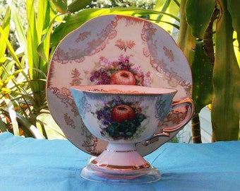 Vintage 1920's Royal Halsey Teacup and Saucer