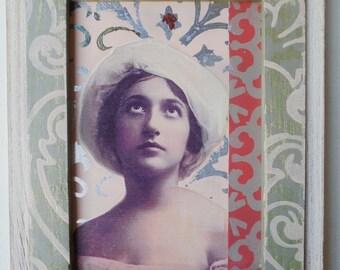 Tamsin Vintage Photo Collage on Wood