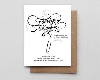 Family reunion invitations | Etsy