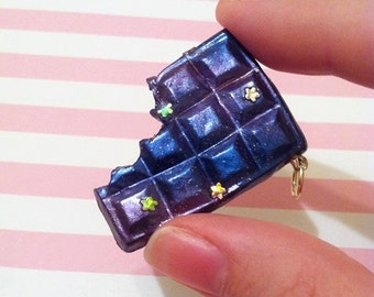 bitten galaxy chocolate bar charm