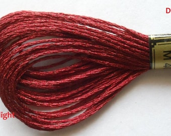 Anchor Embroidery Metallic Thread  Skeins / Floss Ruby Red Color M-401