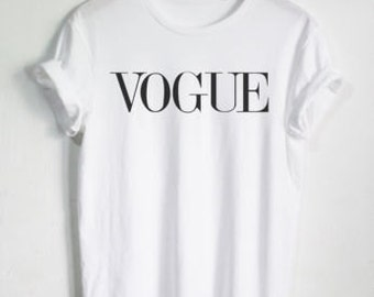 vogue tshirt etsy. Black Bedroom Furniture Sets. Home Design Ideas