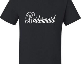 Adult Bridesmaid Bridal Party T-Shirt