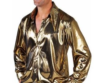 Summer Sale 70's Shirt - Liquid Gold