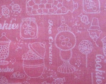Gum Drops and Lollipops Pink Fabric From Quilting Treasures