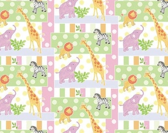 Nursery-Safari Baby Patch Fabric From Springs Creative