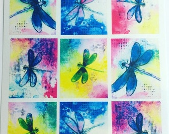 Dragonfly full box planner stickers