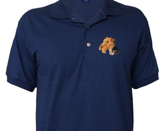 Embroidered Airedale Polo Shirt