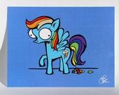 "Rainbow  Poop, 8.5"" x 11"" print."